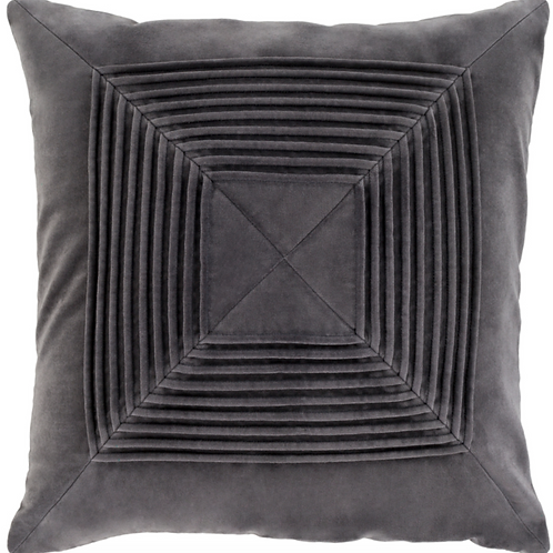 CHARCOAL CONCENTRIC SQUARES PILLOW