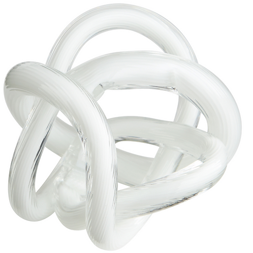 SMALL WHITE GLASS KNOT