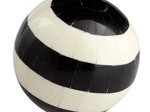 BLACK & WHITE STRIPED DECORATIVE FILLER