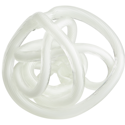 LARGE WHITE GLASS KNOT