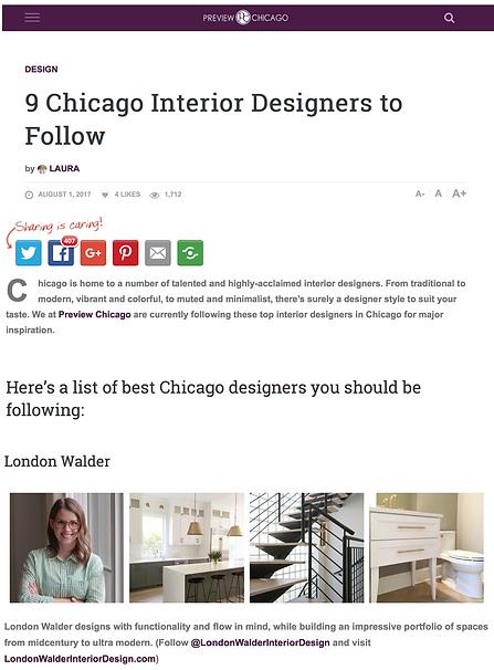 London Walder Interior Design
