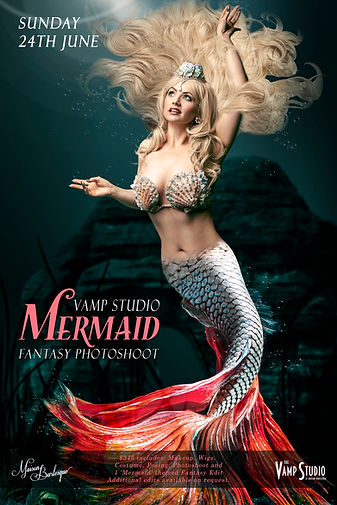Mermaid Fantasy Photoshoot Special Vamp Studio Melbourne