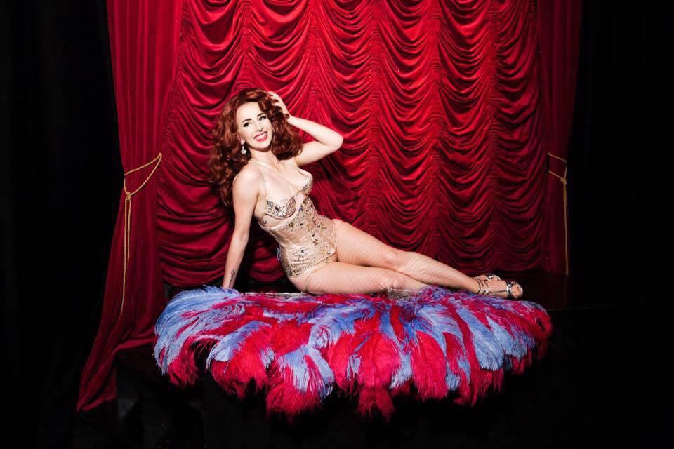 Miss Maple Rose Burlesque Fan Dancer
