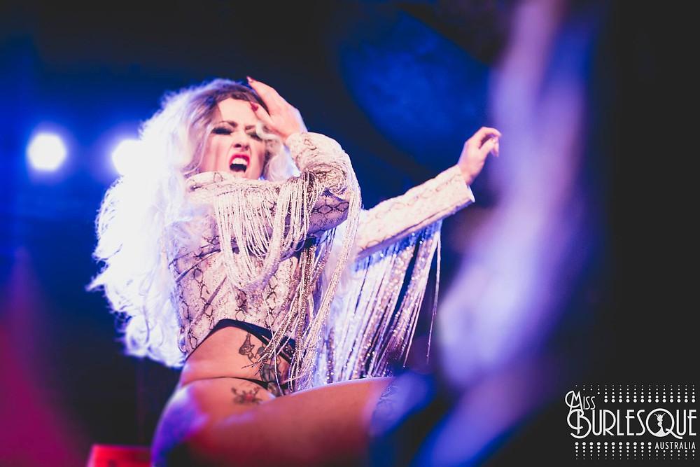 Domino De Jour Rock Sweat & Rears Miss Burlesque Australia
