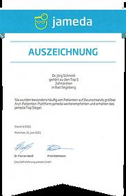 Jameda Auszeichnung Dr. J. Schmidt 8.2021.png