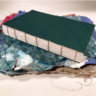 Madie: Arcadia Playouse Coptic Stitch Journal with Soft Cover