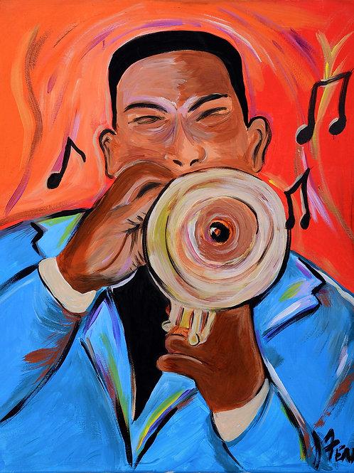 Trumpet Man print