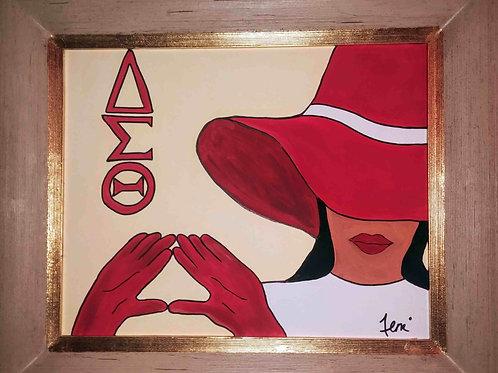 The Delta Diva-framed