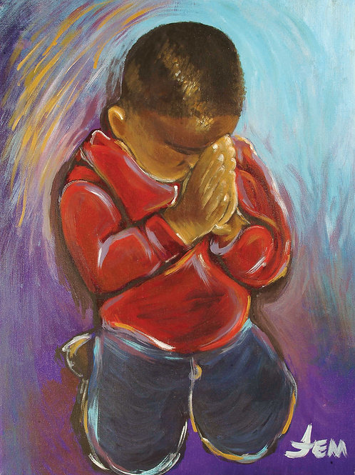 Little Boy Praying print