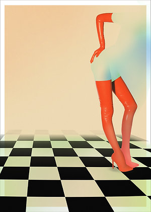 CHECKERED No. 2 - POSTER PRINT