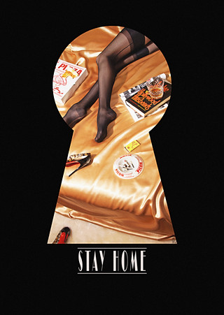 """""""STAY HOME"""" CHARITY POSTCARD - BEDROOM"""