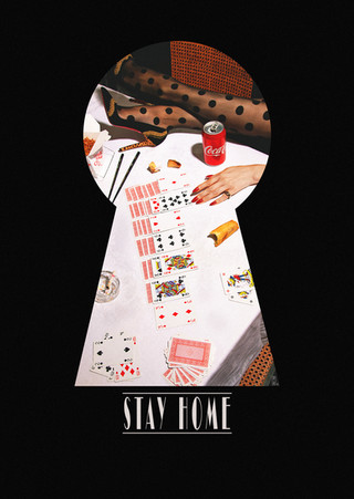 """""""STAY HOME"""" CHARITY POSTCARD - CARDS"""