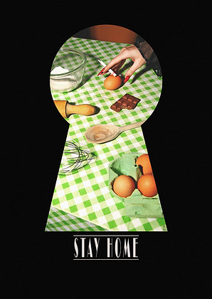 """STAY HOME"" POSTCARD - BAKING"