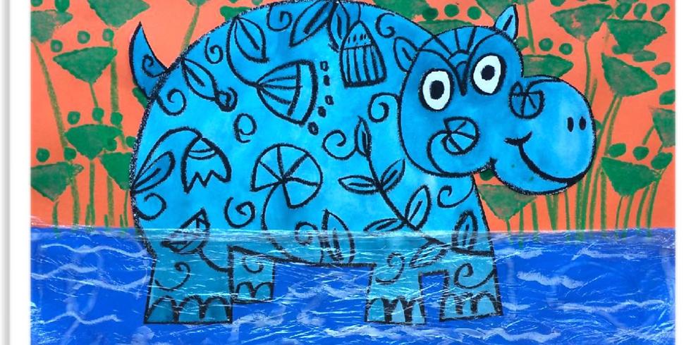 The Little Blue Hippo