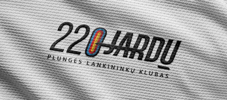 """Logotipas """"220 Jardų. Plungės Lankininkų Klubas"""""""
