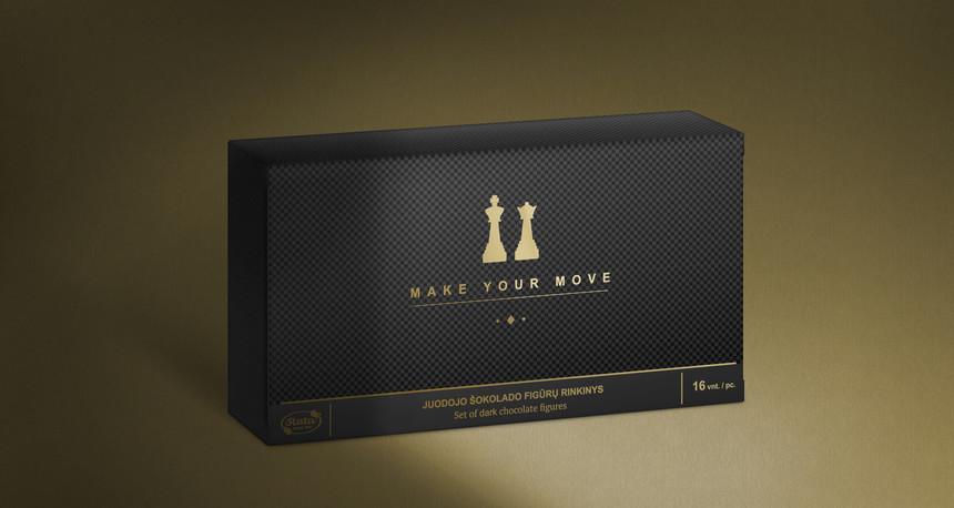 """Juodojo šokolado figūrų rinkinys """"Make your move"""", 160 g"""