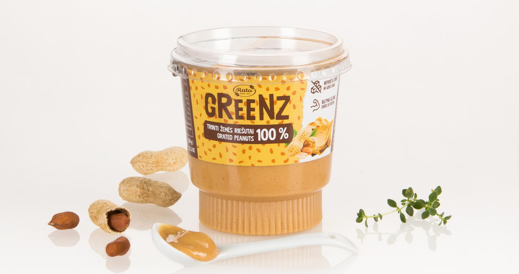 """Trinti žemės riešutai """"Greenz"""", 350 g"""
