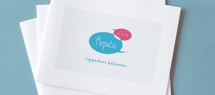"""Logotipas """"Logopedinis kabinetas PLEPUTIS"""""""