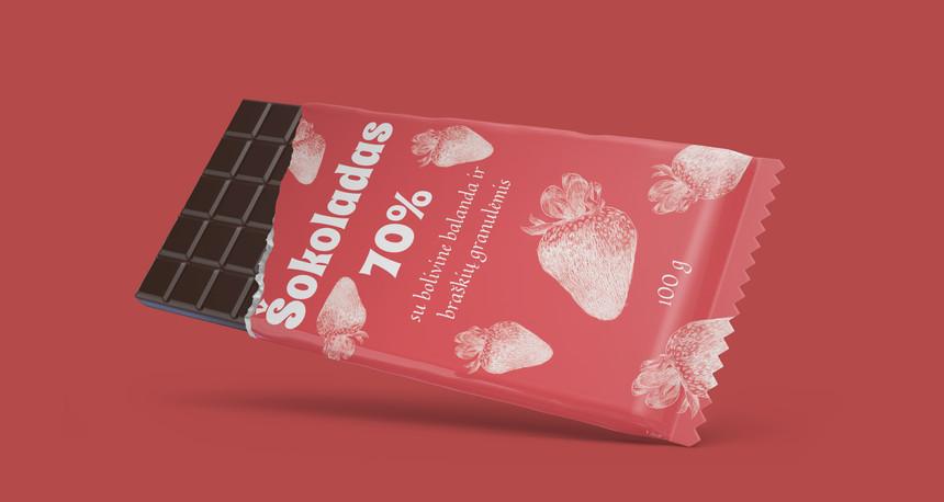 Šokoladas su priedais, 100 g