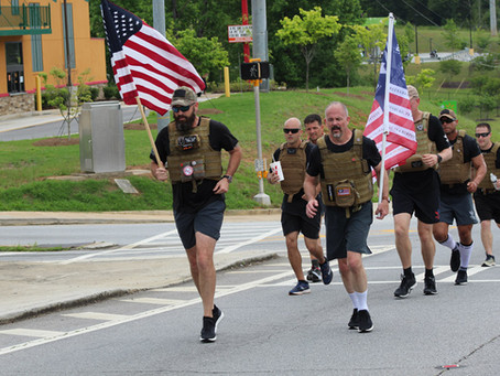 No Memorial Day plans? Come to Shepherd Center to cheer on a group running to aid veterans.