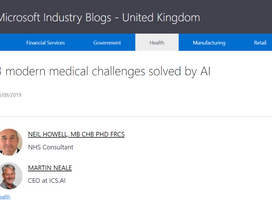 AI and Healthcare are the perfect partners.