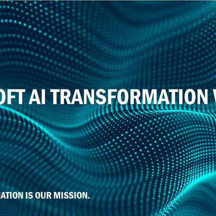 Join our second exclusive Microsoft AI Transformation webinar on August 28th 2019 (15:00-16:00PM)
