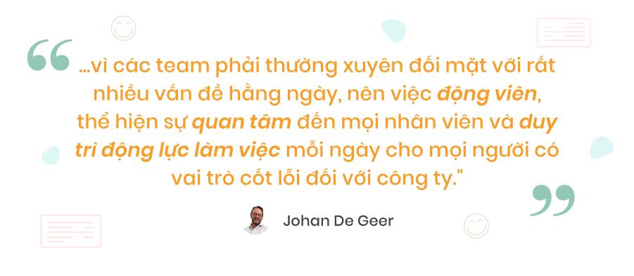Chia sẻ của ông Johan De Geer