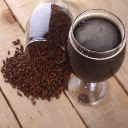 malt d'orge torréfié et bière au chocolat