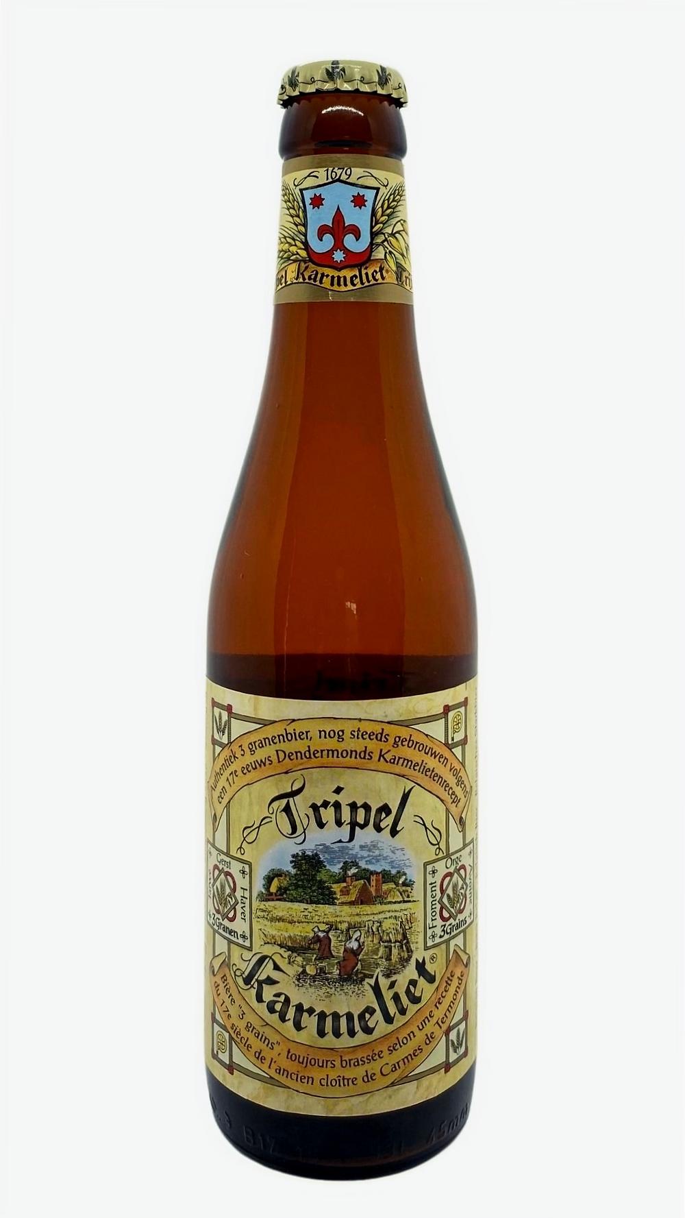 Bouteille de bière triple karmeliet