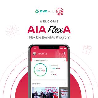 EveHR đồng hành cùng AIA cho ra mắt nền tảng FlexA - Phúc lợi linh hoạt