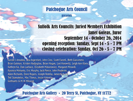 PAC 2014 Juried exhibition Card