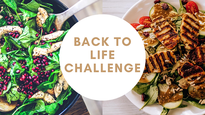 BACK TO LIFE: SEPT 2020 CHALLENGE