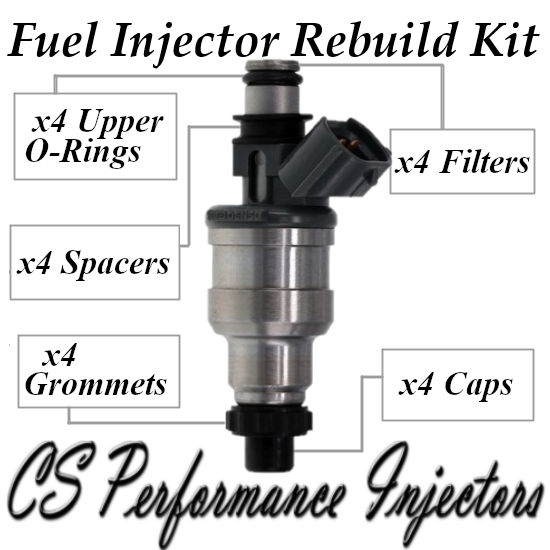 Fuel Injectors Rebuild Kit Fits 2040 For Mazda Kia Rocky 1990-1995 1.6L 1.8L I4