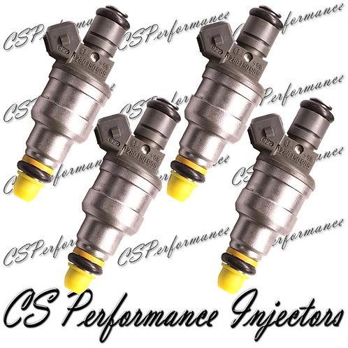 OEM Bosch Fuel Injectors Set (4) 0280150965 for Chrysler Dodge Eagle Ply 2.0L I4
