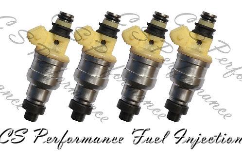 OEM Nikki Fuel Injectors Set (4) INP-057 for Eagle Mitsubishi Plymouth 2.0 1.8