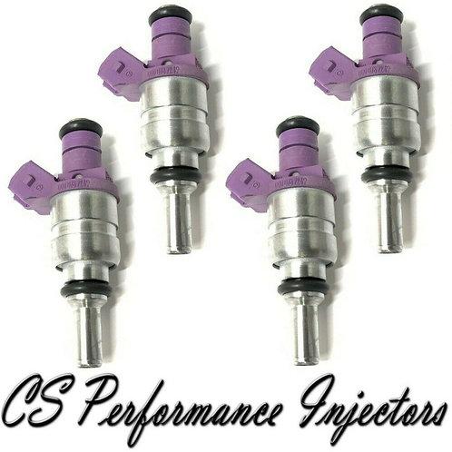 OEM Siemens Fuel Injectors Set (4) 0000787249 for 2001-2004 Mercedes 2.3 I4
