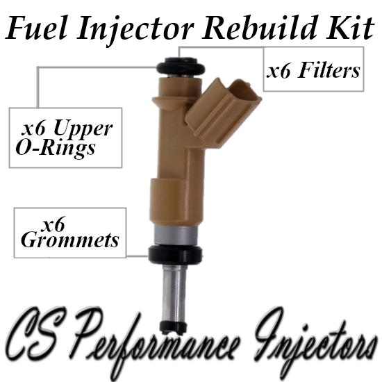 Fuel Injectors Rebuild Repair Kit fits 23250-31100 for 2010-2019 Toyota 4.0L V6