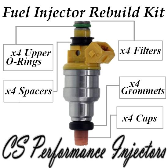 Fuel Injectors Rebuild Repair Kit fits INP-063 for 92-96 Mitsubishi Eagle1.8 I4