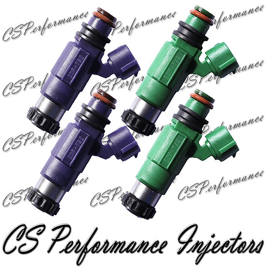 OEM Nikki Fuel Injectors Set (4) INP-782 INP-783 for 2001-2003 Mazda 2.0L I4