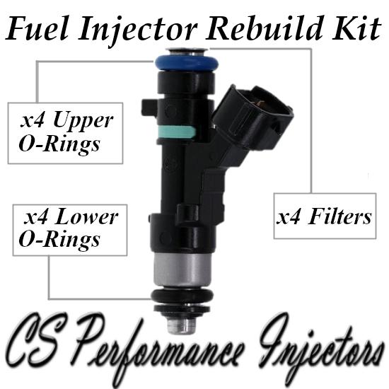 Fuel Injectors Rebuild Repair Kit fits 0280158130 for 2007-2013 Nissan 2.5L I4
