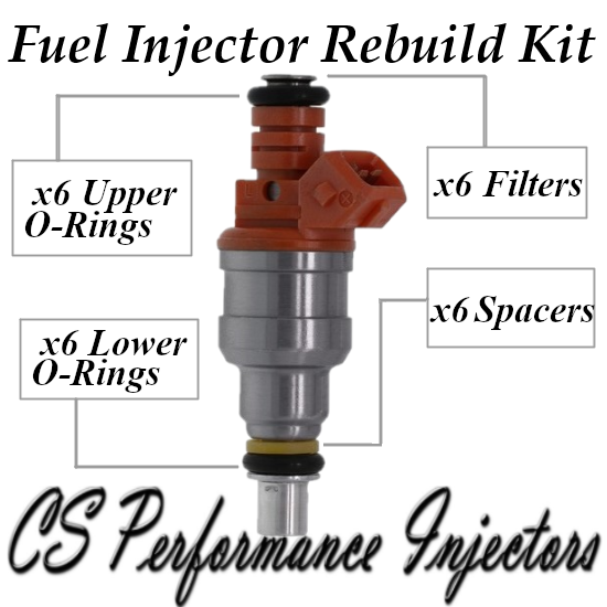 Fuel Injectors Rebuild Repair Kit fits INP-066 for 92-00 Dodge Plymouth 3.0L V6