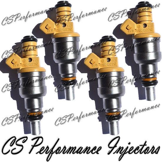 OEM Bosch Fuel Injectors Set (4) 0280150712 for 86-90 Saab 2.0L I4 Turbocharged