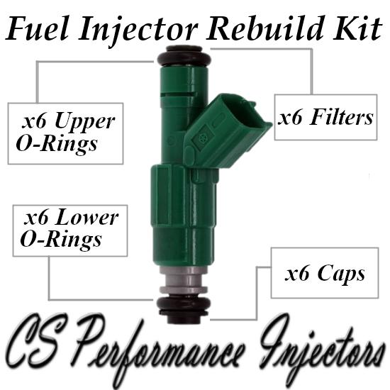 Fuel Injectors Rebuild Repair Kit fits 0280155789 for Chrysler Dodge 3.3 V6 Flex