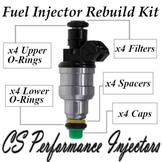 Bosch 0280150447 Fuel Injectors Rebuild Kit for Audi Volkswagen 1.8L I4 Turbo