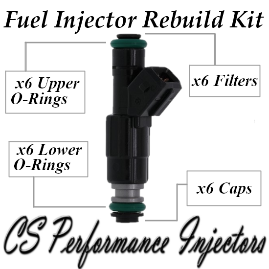 Fuel Injector Repair Rebuild Service Kit ORings Filters Caps CSKBO36 0280155703