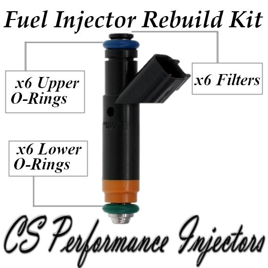 Fuel Injectors Rebuild Repair Kit fits YR3E-A4A for 99-04 Ford 3.8L 4.2L V6