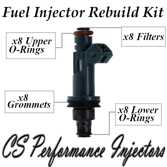 Fuel Injectors Rebuild Repair Kit fits XR82-AF for 1998-2003 Jaguar 4.0L V8