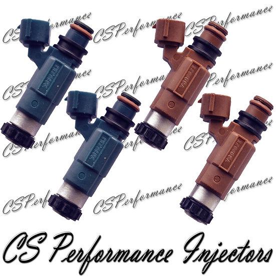 OEM Nikki Fuel Injectors Set (4) INP-780 INP-781 for 1999-2002 Mazda 2.0 1.8 I4