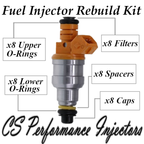 Fuel Injectors Rebuild Repair Kit fits Bosch 0280150943 for 91-04 Ford V8