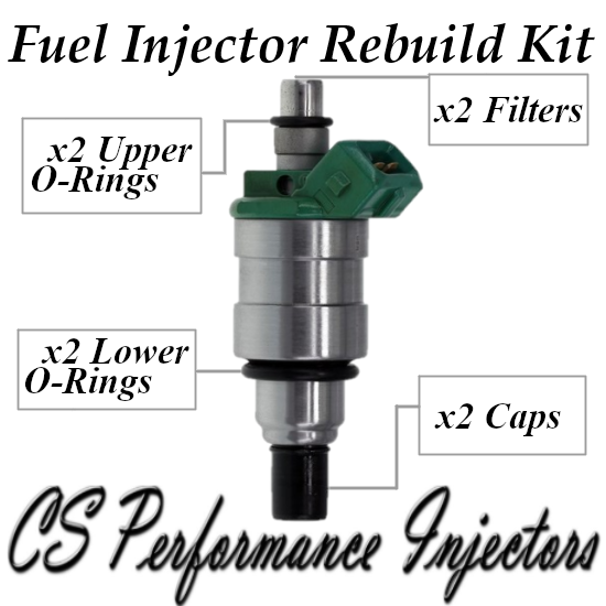 Fuel Injector Rebuild Kit for Bosch 0280150402 for 84-87 Ford Mercury 3.8L 5.0L